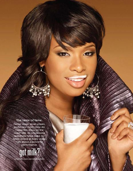 Дженнифер Хадсон рекламирует молоко