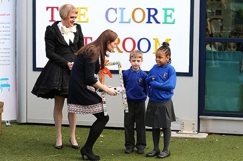 Герцогиня Кэтрин на открытии детской арт-студии в Лондоне