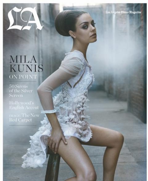 Мила Кунис украсила обложку Los Angeles Times