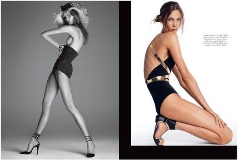Главный редактор Vogue опровергла слухи об анорексии Карли Клосс