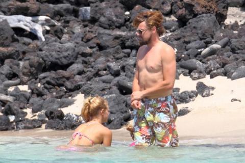 Леонардо Ди Каприо и Эрин Хатертон отдыхают на Гавайях