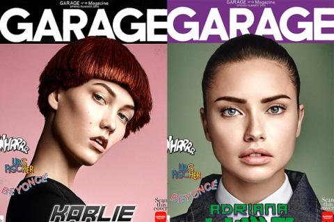 Знаменитые модели в роли героев комиксов на обложке Garage