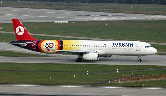 Турецкий Боинг экстренно сел из-за записки о бомбе