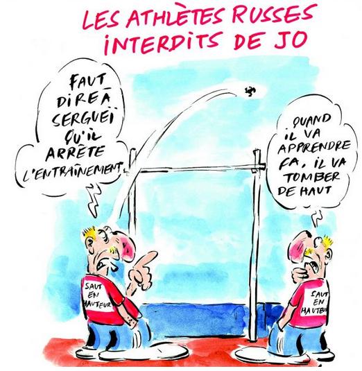 Charlie Hebdo висміяв російських олімпійців: опубліковано фото (1)