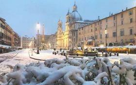 Італію накрив сніг і аномальні морози: опубліковані видовищні фото