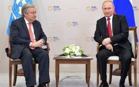 Це були гострі питання: генсек ООН зустрівся з Путіним