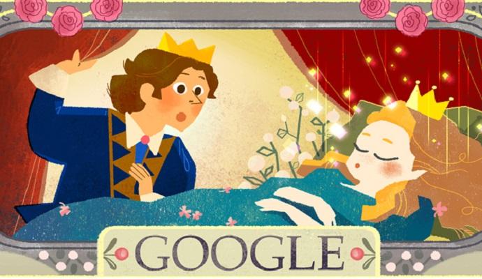 Google приурочил тематические дудлы ко дню рождения Шарля Перро