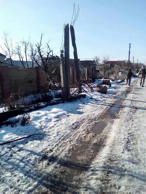 Под Донецком прошел бой: опубликовано фото (1)