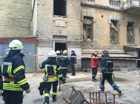 В центре Киева обвалился дом: опубликовано фото (3)