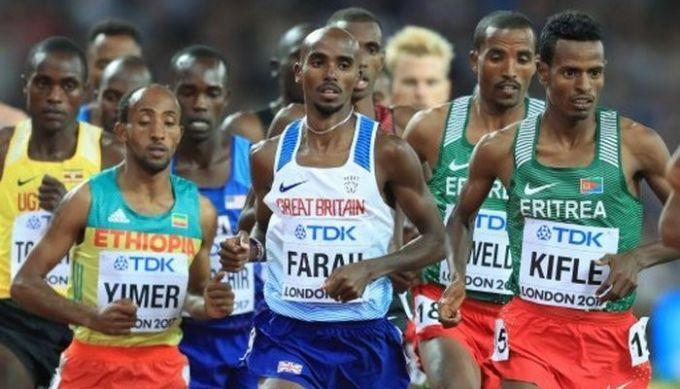 Фара— трехкратный чемпион мира вбеге на 10 000 метров