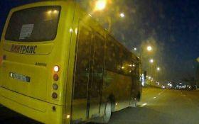 У Києві водій маршрутки влаштував гонки з поліцією: опубліковані фото