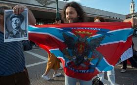 """В Европе чуть не разогнали людей с флагами """"Новороссии"""": опубликовано видео"""