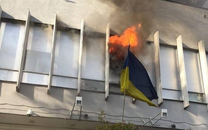 """Пожежа на """"Інтері"""": з'явилося відео підпалу"""