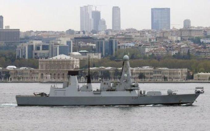 Корабль НАТО вошел вЧерное море 25апреля 2017 14:12