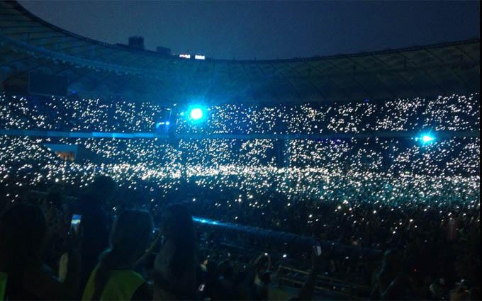 Грандіозний концерт «Океану Ельзи» пройшов в Києві: опубліковані фото і відео (1)