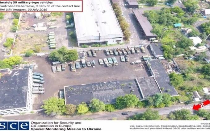 Військову техніку бойовиків зняли з повітря: опубліковані фото