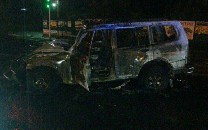 П'яний київський автослюсар влаштував масштабну ДТП з пожежею: з'явилися фото