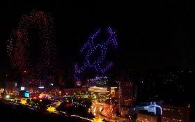 В Китае светящиеся дроны установили новый мировой рекорд: опубликовано впечатляющее видео