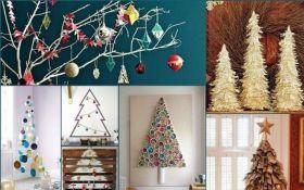Как сделать альтернативную елку к Новому году своими руками: яркие фото