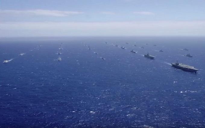 Наймасштабніші військово-морські навчання в світі: з'явилося вражаюче відео