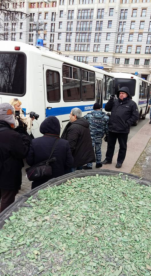 В Москве разогнали пикет в поддержку Савченко: опубликовано фото (1)