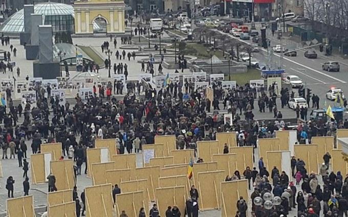 Беспорядки в центре Киева: появились новые фото