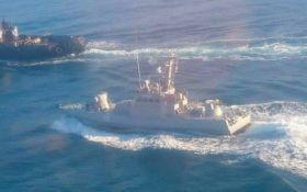 Как российский корабль протаранил украинский буксир в Азовском море: появилось новое видео