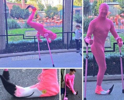 Каждый Хэллоуин этот одноногий парень делает необычные костюмы и вот что он придумал в этом году (8 фото) (4)