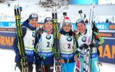 Украина упустила медаль в эстафете на Кубке мира по биатлону