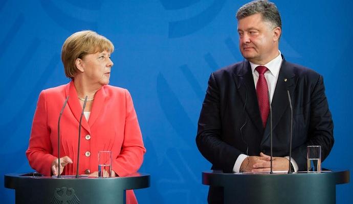 Порошенко проведет двусторонние переговоры с Меркель