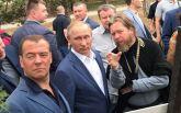 Путин и Медведев в оккупированном Крыму: появились фото