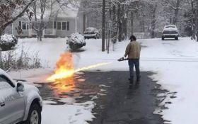 Американец придумал оригинальный способ борьбы со снегом: опубликовано ошеломляющее видео