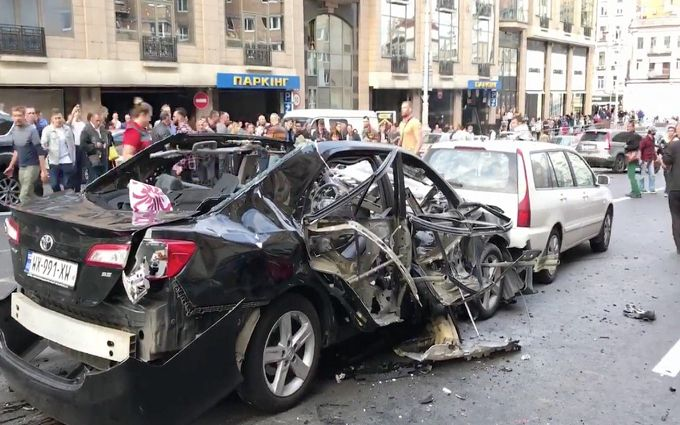 Взрывателя авто Махаури на Бессарабке зафиксировали видеокамеры - СМИ