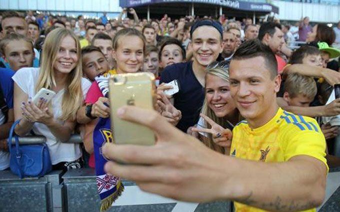 Футболісти збірної України влаштували свято вболівальникам: опубліковані фото і відео