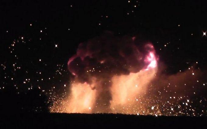 На арсеналі у Вінницькій області сталася диверсія: опубліковано відео вибухів