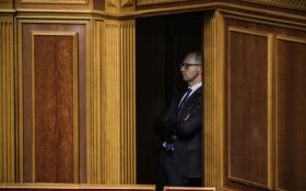 Появилось видео прощального выступления Яценюка