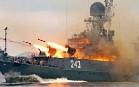 Військові кораблі РФ стріляють у Чорному морі: що сталося