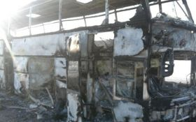 В Казахстане сгорел автобус с пассажирами, десятки жертв
