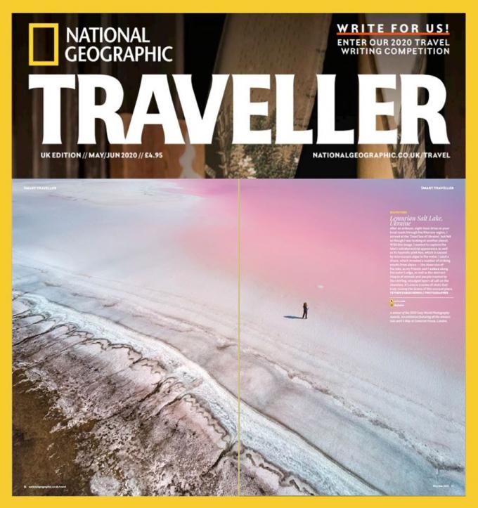 Фото украинского озера опубликовали в National Geographic - фантастические снимки (1)