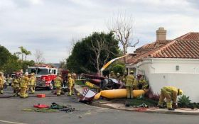 Падіння гелікоптера на житловий будинок в Каліфорнії: опубліковано відео