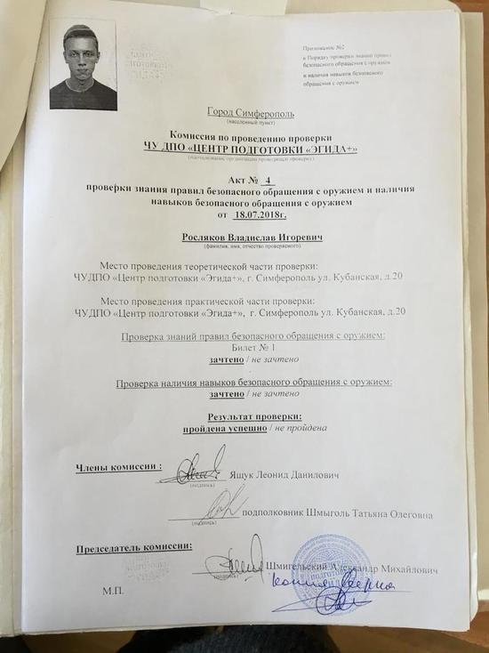 Керченский стрелок научился убивать под патронатом МВД России: рассекречен интересный документ (2)
