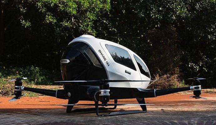 Китай представил первый пассажирский беспилотник