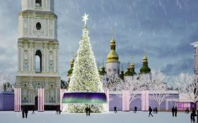 В Киеве уже установлена главная елка страны 2019: новые зрелищные фото