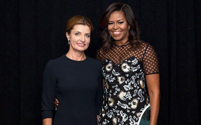 Порошенко емоційно описав зустріч дружини з Мішель Обамою: з'явилося фото