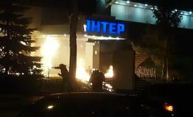 """У мережі з'явилося відео нападу на будівлю """"Інтера"""""""