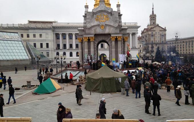 """""""Третий Майдан"""" в лицах: появилось новое видео из центра Киева"""
