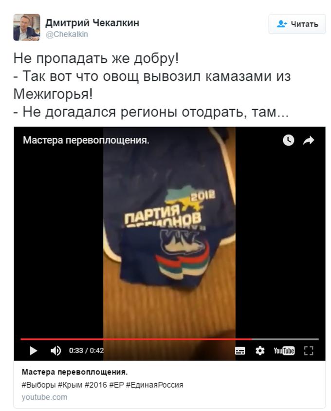 Партійців Путіна спіймали на використанні речей Януковича: з'явилося відео (1)