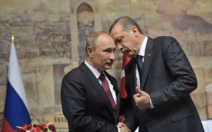 Путін і Ердоган поспілкувалися телефоном: стало відомо, про що домовилися