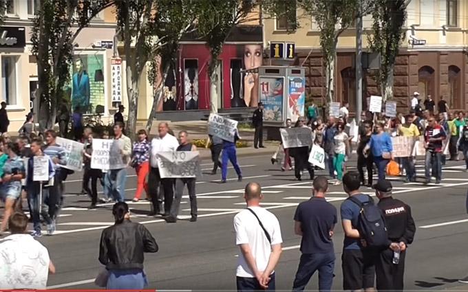 Соцмережі жорстко висміяли мітинг проти ОБСЄ в Донецьку: опубліковано фото і відео
