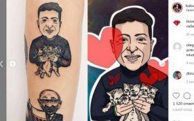 Харьковчанка сделала тату с изображением Зеленского